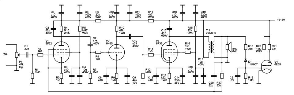 典型应用电路:ef22+el3前级
