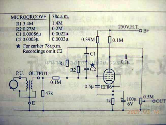 唱头放大器电路结构分反馈型(feedback)和衰减型